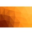 Polygonal greeting card mockup vector image vector image