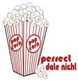Popcorn Date Night vector image vector image