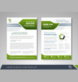 presentation flyer design vector image vector image