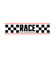 race flag design concepts icon speed flag simple vector image vector image