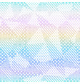 rainbow fabric seamless pattern vector image vector image