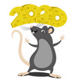 rat symbol new year 2020 vector image