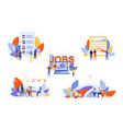 recruitment hr management job interview vector image