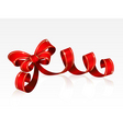 red bow isolated on a white background vector image vector image