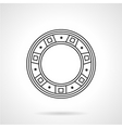 Roller bearing line icon vector image