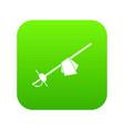 saber icon digital green vector image vector image