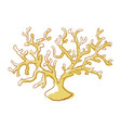 sea coral yellow icon tropical nature vector image vector image