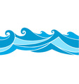 seamless waves vector image vector image
