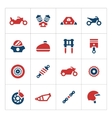 Set color icons of motorcycle vector image vector image