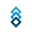 stacked blue box diamond shape logo template vector image vector image