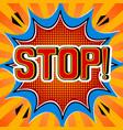 stop word comic book pop art vector image