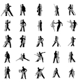 Tango dance silhouettes set vector image vector image