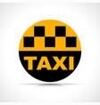 taxi circle icon design vector image