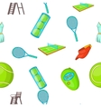 Tennis pattern cartoon style vector image