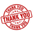 thank you red grunge round vintage rubber stamp vector image vector image
