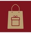 The shopping bag icon vector image vector image