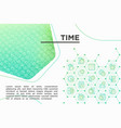time concept with thin line icons vector image vector image
