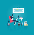 tired businessman thinking about relax vector image
