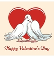 Valentine day couple dove vector image