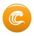 wave nature icon orange vector image vector image