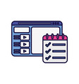 website and check mark list learning online vector image