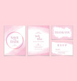 wedding invitation and card template soft pink vector image vector image