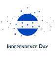 independence day of honduras patriotic banner vector image