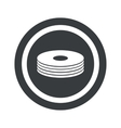 Round black disc pile sign vector image