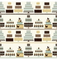 seamless pattern with decorative cakes vector image