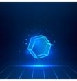 glass hexagon vector image