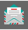 envelope on gray background vector image