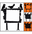 Sign and Crows vector image