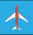 airplane top view vector image vector image