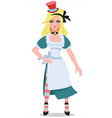 alice to the fairy tale alices adventures in vector image vector image