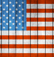 American Wooden Flag vector image