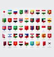 asia flag pin set vector image vector image