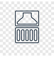 balcony concept linear icon isolated on vector image
