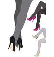 beautiful high heels vector image vector image