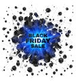 Black friday sale abstract shaded cubes blue vector image vector image