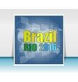 Brazil Rio Summer Games 2016 Flat design vector image vector image
