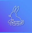 bunny brunch linear lettering vector image vector image