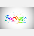 business creative vetor word text with vector image
