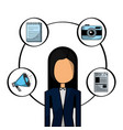 business woman people office vector image vector image