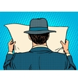 businessman reading a newspaper vector image vector image