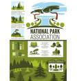 city park and garden landscape design infographic vector image