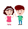 cute happy funny smiling boy and girl vector image vector image