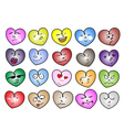 Different Variations Heart Icon vector image vector image