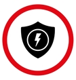 Electric Guard Flat Rounded Icon vector image vector image