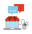 electronic commerce design vector image vector image