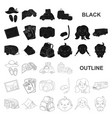 family holiday black icons in set collection for vector image vector image